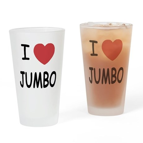 I heart jumbo Drinking Glass