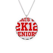 Class of 2K12 (Red Text) Necklace
