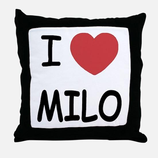 I heart Milo Throw Pillow