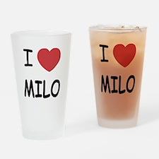 I heart Milo Drinking Glass