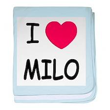I heart Milo baby blanket