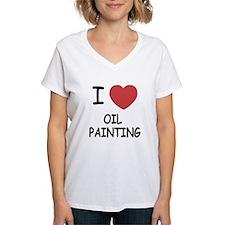 I heart oil painting Shirt