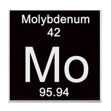 Periodic Table Molybdenum Tile Coaster