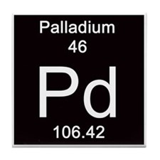 Periodic Table Palladium Tile Coaster