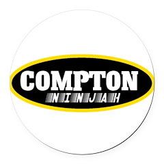 COMPTON NINJAH WEAR Round Car Magnet