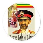 love-Jah-n-Live II.jpg Round Car Magnet