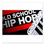 old school hiphop Square Car Magnet 3