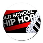 old school hiphop Round Car Magnet