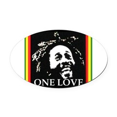 ONE LOVE II. Oval Car Magnet