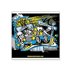 GHOST RIDE.. Square Sticker 3
