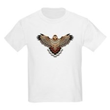 Beadwork Red-Tailed Hawk T-Shirt