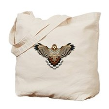 Beadwork Red-Tailed Hawk Tote Bag