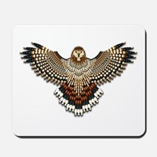 Beadwork Red-Tailed Hawk Mousepad