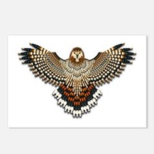 Beadwork Red-Tailed Hawk Postcards (Package of 8)