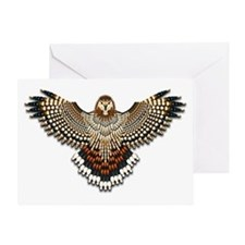 Beadwork Red-Tailed Hawk Greeting Card