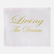 Living the Dream Gold Throw Blanket