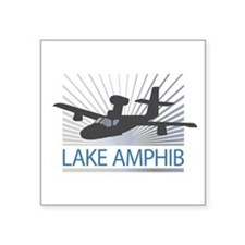 "Aircraft Lake Amphibian Square Sticker 3"" x 3"""