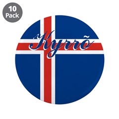 """Icelandic Peace 3.5"""" Button (10 pack)"""