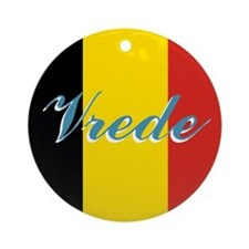 "Belgian Flag ""peace"" Ornament"
