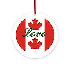 "Canadian Flag ""Love"" Ornament"