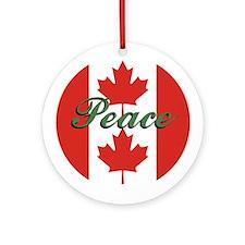 "Canadian Flag ""Peace"" Ornament"