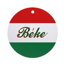"Hungarian Flag ""Peace"" Ornament"