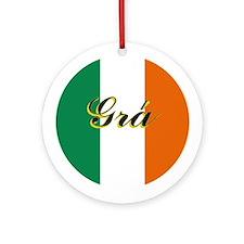 """Irish Flag """"Joy"""" Ornament"""