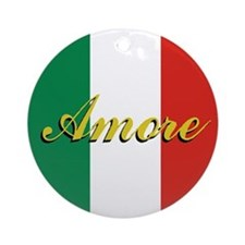 "Italian Flag ""Love"" Ornament"
