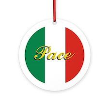 """Italian Flag """"Peace"""" Ornament"""