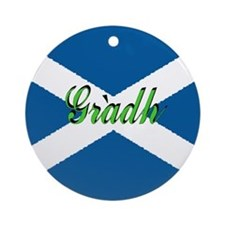 "Scottish Flag ""Love"" Ornament"