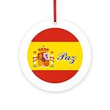 Spain christmas ornament Round Ornaments