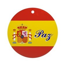 "Spanish Flag ""Peace"" Ornament"