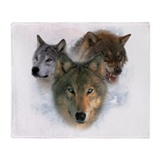 wolves.png Throw Blanket