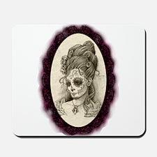 Maroon Dia de los Muertos Mousepad
