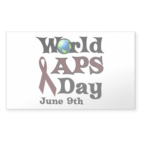 June 9th is World APS Day Sticker (Rectangle)