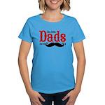 Best Dads Have Mustaches Women's Dark T-Shirt