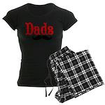 Best Dads Have Mustaches Women's Dark Pajamas