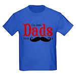 Best Dads Have Mustaches Kids Dark T-Shirt