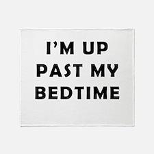 Im up past my bedtime Throw Blanket