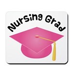 Pink Nursing Grad Hat Mousepad
