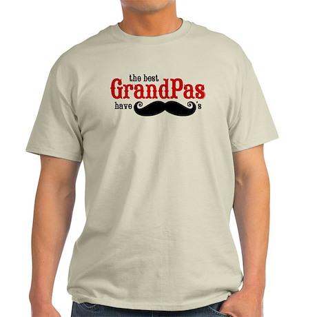 Best Grandpas Have Mustaches Light T-Shirt