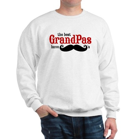 Best Grandpas Have Mustaches Sweatshirt
