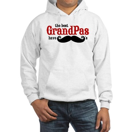 Best Grandpas Have Mustaches Hooded Sweatshirt