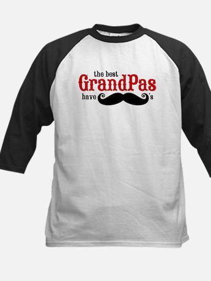 Best Grandpas Have Mustaches Kids Baseball Jersey
