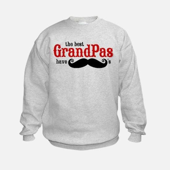 Best Grandpas Have Mustaches Sweatshirt