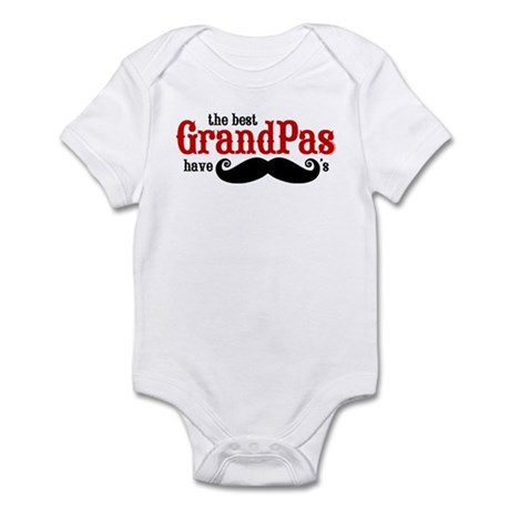 Best Grandpas Have Mustaches Infant Bodysuit