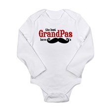 Best Grandpas Have Mustaches Long Sleeve Infant Bo