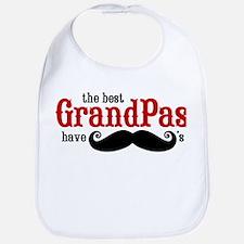Best Grandpas Have Mustaches Bib