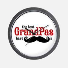 Best Grandpas Have Mustaches Wall Clock