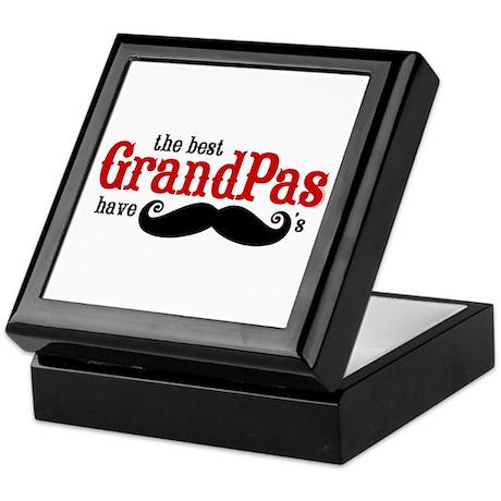 Best Grandpas Have Mustaches Keepsake Box